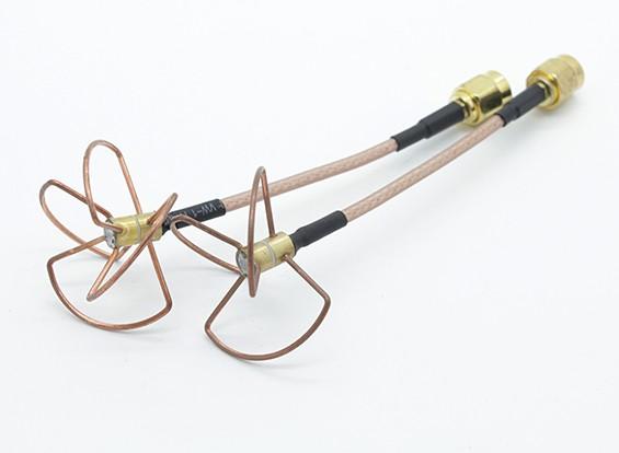 Circular 5.8ghz antena polarizada Conjunto (SMA) (LHCP) (60 mm)