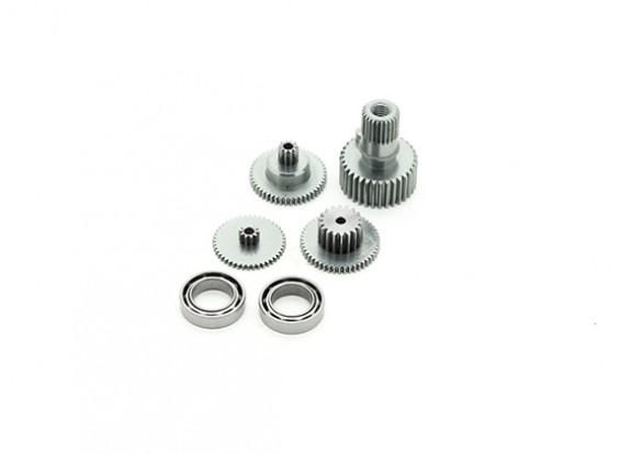 RJX FS-0390HV & FS-390THV metal Servo Gear Set con rodamientos