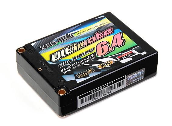 Turnigy nano-tech último 6400mAh 2S2P 90C Lipo Pack Square Estuche