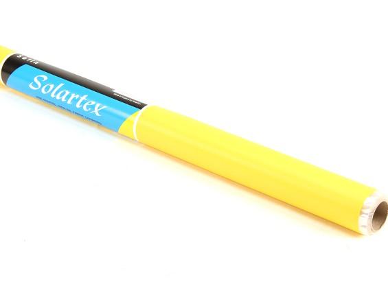 Satén Solartex pre-pintado plancha en el tejido de revestimiento (amarillo) (5mtr)