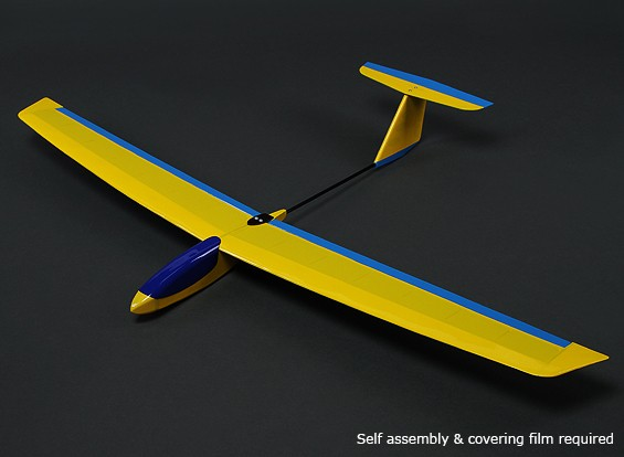 HobbyKing ™ Mini Guppy Pendiente Planeador Balsa 1165mm (KIT)