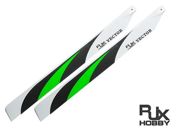 430mm RJX vector de fibra de carbono 3K Flybarless láminas principales