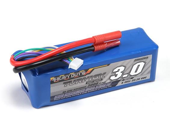 Turnigy pesados 3000mAh 6S 60C Lipo Pack de