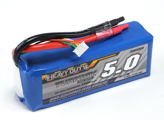 Turnigy pesados 5000mAh 60C Lipo 4S Paquete