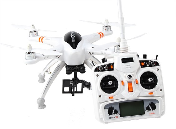 Walkera QR X350 PRO GPS FPV RC Quadcopter con G-2D cardán y DEVO 10 (Modo 2) (listo para volar)