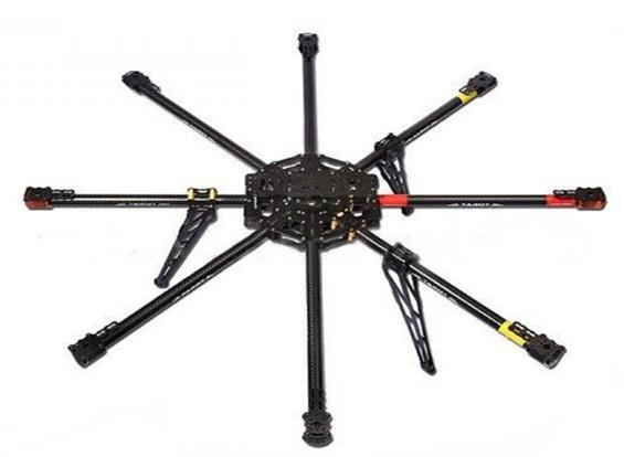 Marco tarot IRON MAN T1000 Octo-Helicóptero de fibra de carbono (KIT) TL100B01