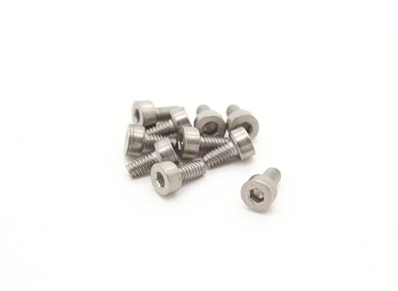 Titanio M2 x 4 Sockethead tornillo hexagonal (10pcs / bag)