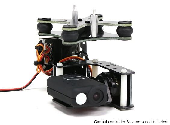 Turnigy ™ Mobius 2 Eje cardán con AX2206 Motors controlador W / O