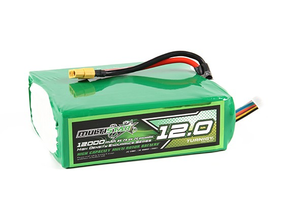 Multistar High Capacity Lightweight 12000mAh 8S 2C Multi-Rotor Lipo Pack