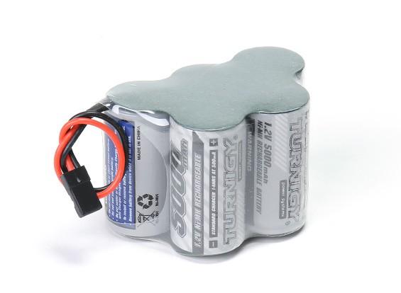 Serie de alta potencia Turnigy 5000mAh 6.0V Receptor Paquete NiMH