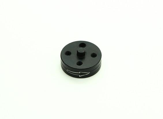El aluminio CNC de liberación rápida auto-apriete adaptador Prop - Negro (Prop lateral) (sentido horario)