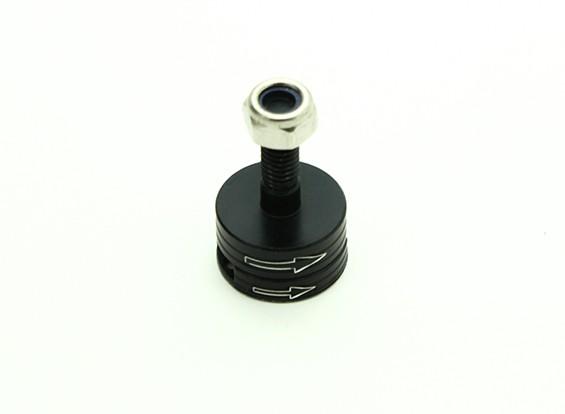 CNC de aluminio M6 lanzamiento rápido de auto-apriete Prop Conjunto adaptador - Negro (en sentido horario)