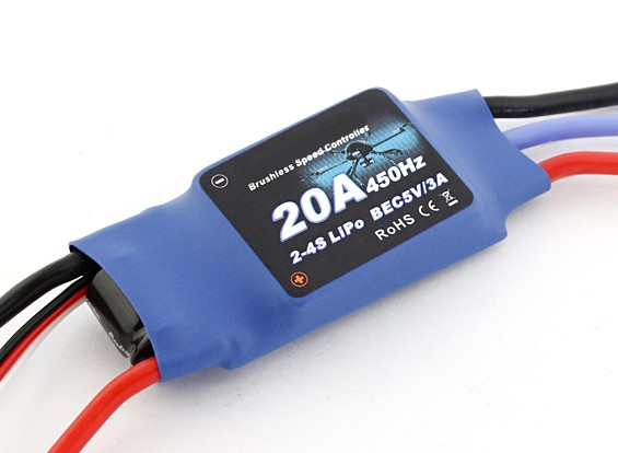 Flycolor 20 Amp Multi-rotor ESC 2 ~ 4S con el BEC