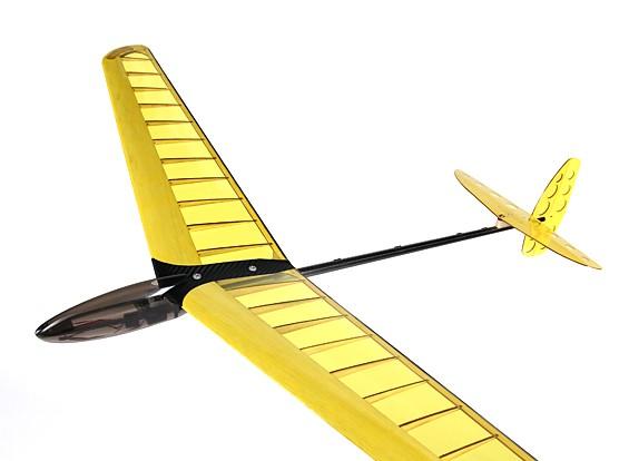 Mini DLG Compuesto de disco Lanzamiento del planeador - 950mm amarillo (PNF)