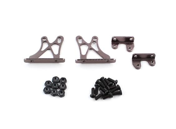 1/10 Alum. Estructura de Soporte ajustable Ala - Bajo (titanio)