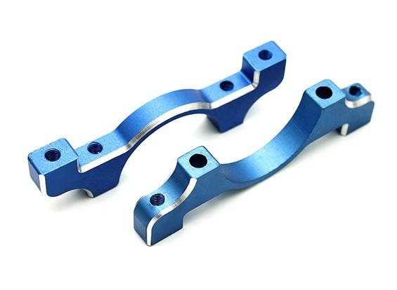 Azul anodizado CNC de aluminio tubo de sujeción 20 mm Diámetro