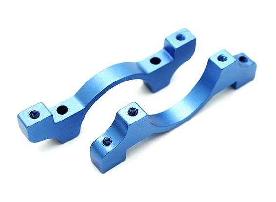 Azul anodizado CNC de aluminio tubo de sujeción 22 mm Diámetro