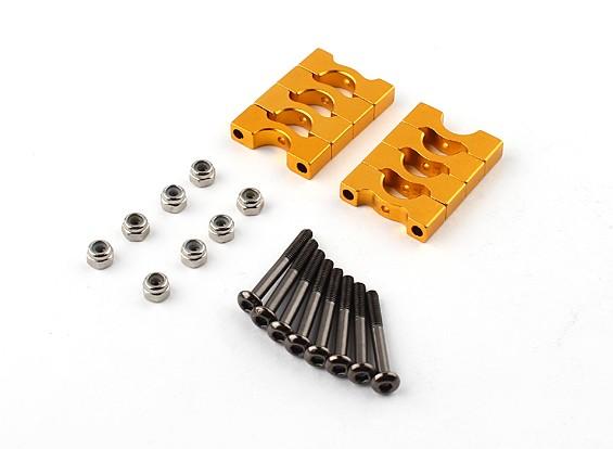 El oro anodizado CNC Super Light aleación de tubo de sujeción 8 mm de diámetro