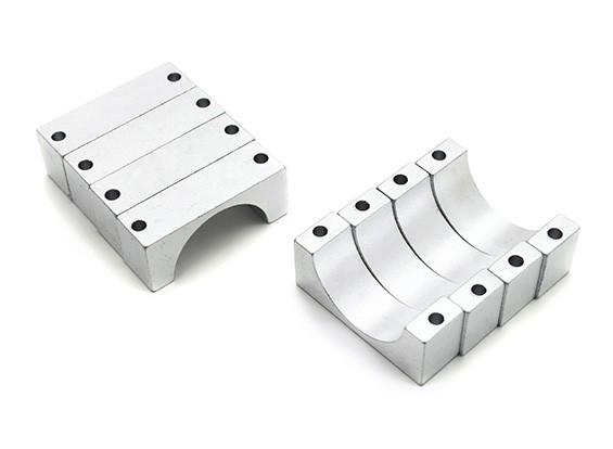 Plata anodizado CNC tubo de aluminio de 10 mm Diámetro de la abrazadera 20mm