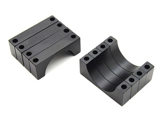 Negro anodizado CNC de aluminio de 6 mm tubo de sujeción 22 mm de diámetro