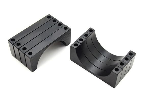 Negro anodizado CNC de aluminio de 6 mm 30 mm Diámetro del tubo de sujeción