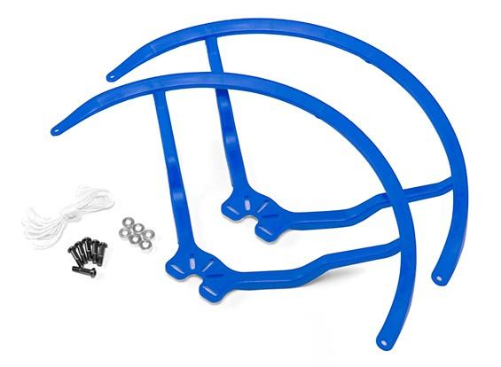8 pulgadas de plástico universal multi-rotor hélice Guardia - Azul (2set)