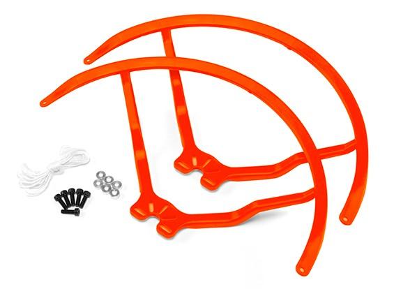9 pulgadas de plástico universal multi-rotor hélice Guardia - naranja (2set)
