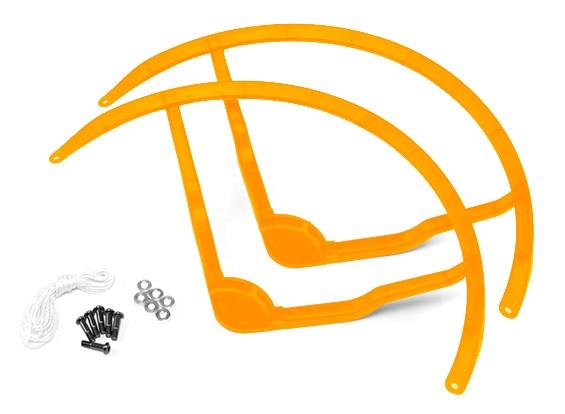 9 pulgadas de plástico multi-rotor hélice Guard para DJI Fantasma 2 - Amarillo (2set)