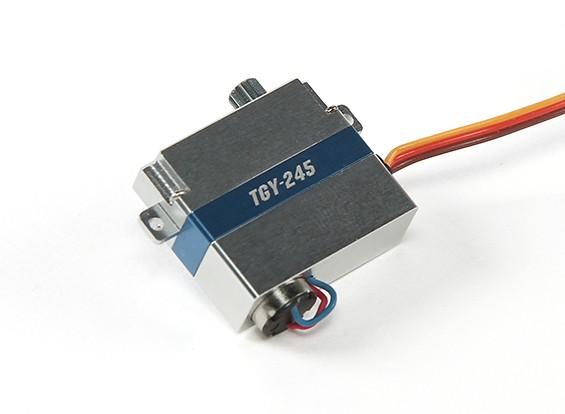 Turnigy ™ TGY-245 DLG Ala Corless Servo BB / DS / MG w / caja de la aleación de 2 kg / 0.08sec / 9g