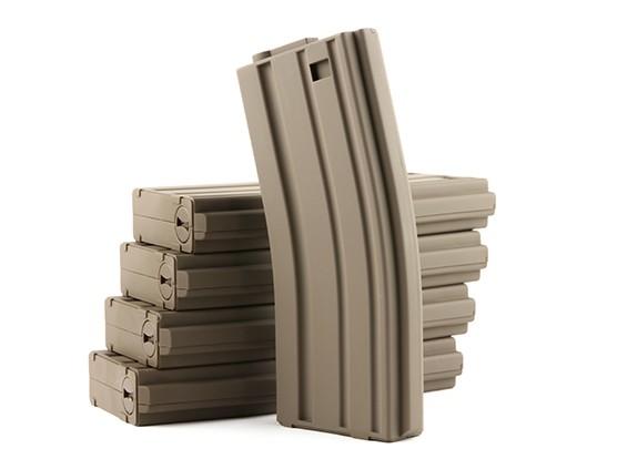 King Arms 120rounds revistas para la serie de Marui M4 / M16 AEG (tierra oscura, 5pcs / caja)