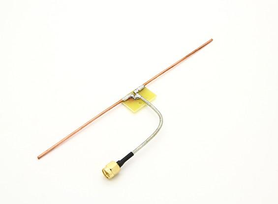 900MHz dipolo coaxial de alimentación cuartos de conexión directa de la onda de la antena (RP-SMA)