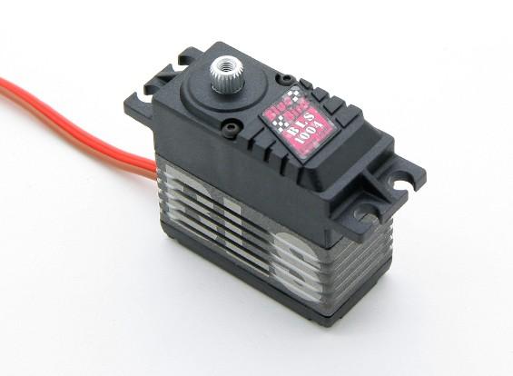 BLS-1004 de alto voltaje (7.4V) sin escobillas servo digital w / nanómetro de la aleación del engranaje 9.7kg / .048sec / 66g