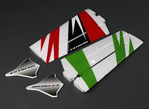 1100mm extrema 3D - Sustitución del ala Conjunto