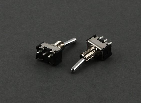 Ronda interruptor de 2 vías (corto) (2pcs)