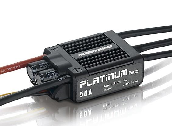 Hobbywing Platinum 50A V3 sin escobillas ESC w / 7A BEC