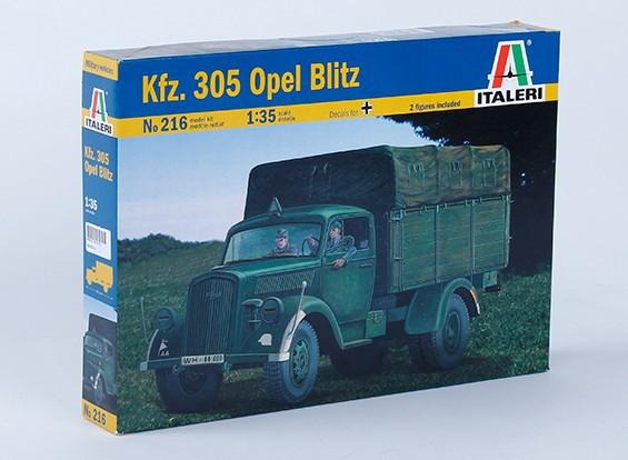 Italeri 1/35 Kfz. Kit 305 Opel Blitz Escala Pastic Modelo