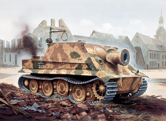 Italeri 1/35 Escala Kit RW 61 Auf Sturmmorser tigre Modelo Plástico