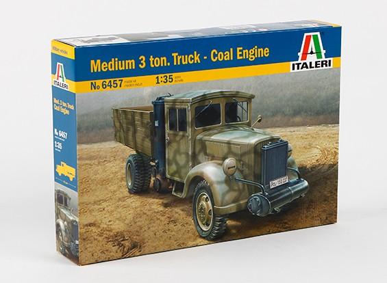Kit de Italeri 1/35 escala media de 3 toneladas de camiones de carbón Modelo del motor de plástico