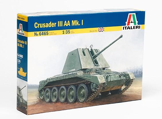 Kit de Italeri 1/35 Escala Crusader III AA Mk.I. Modelo Plástico