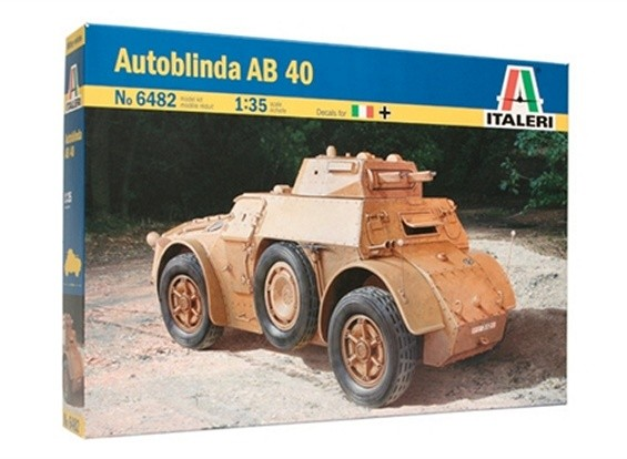 Kit de Italeri 1/35 Escala AB 40 Autoblinda Modelo Plástico