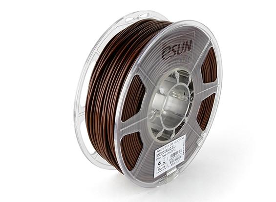 ESUN 3D Filamento impresora de Brown 3mm PLA 1kg rollo
