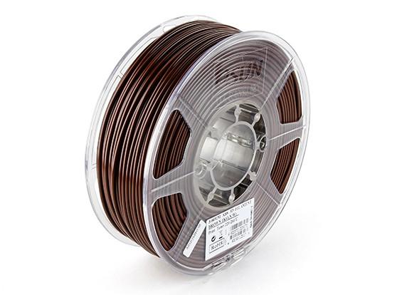 ESUN 3D Filamento impresora de Brown 3mm ABS 1kg rollo