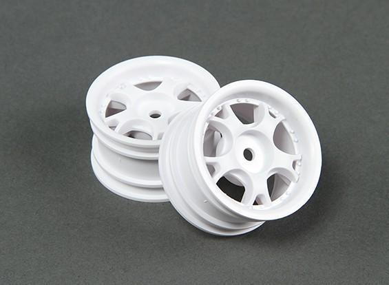Ride 1/10 Mini 5W 0 mm de radios de rueda Offset - Blanco (2 unidades)