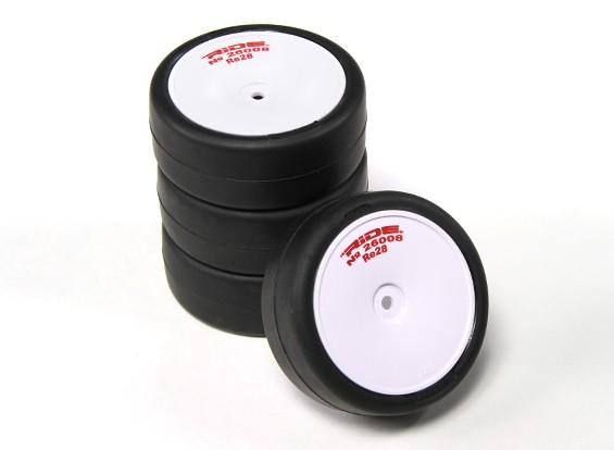 Ride Pre-encolada 1/10 Touring Car Neumáticos - Los neumáticos de alto agarre con cinturón Revolución Re28 w / tira de espuma (4pcs)
