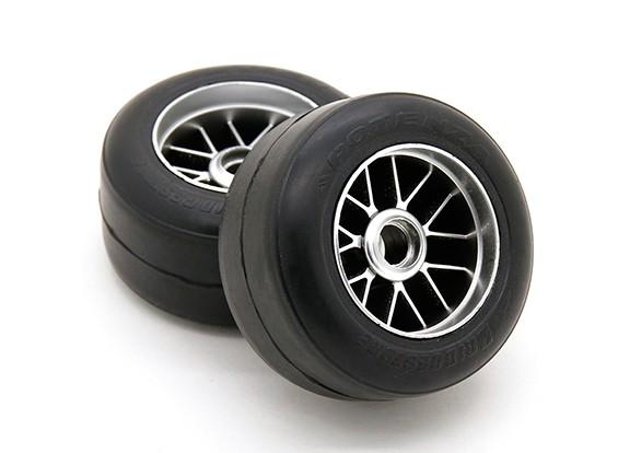 Ride Pre-encolada F104 Frente R1 alta Grip Compuesto Slick neumático de goma Conjunto (2pcs)