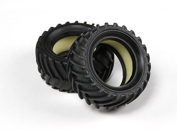 Ride 1/10 mini campo a través de Neumáticos gorro Tipo (2pcs)