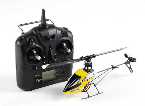HiSky HFP100 V2 Mini RC helicóptero de paso fijo Modo 2 (Ready-To-Fly)
