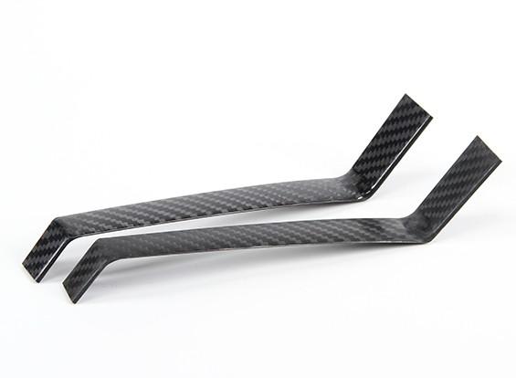Fijo de fibra de carbono del tren de aterrizaje de 250 mm de alto (1 unidad)