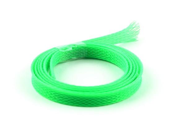 Guardia de alambre de malla verde de neón de 8 mm (1m)