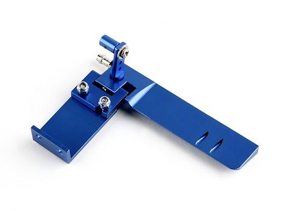 HobbyKing aluminio Asamblea Timón marina ™ (azul)